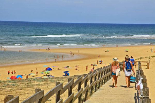 Messanges-plage dans les Landes sur la côte atlantique