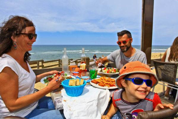 Restaurant avec vue sur plage à Messanges dans les Landes