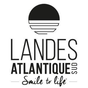 Logo Landes Atlantique Sud Bloc-marque noir-carre