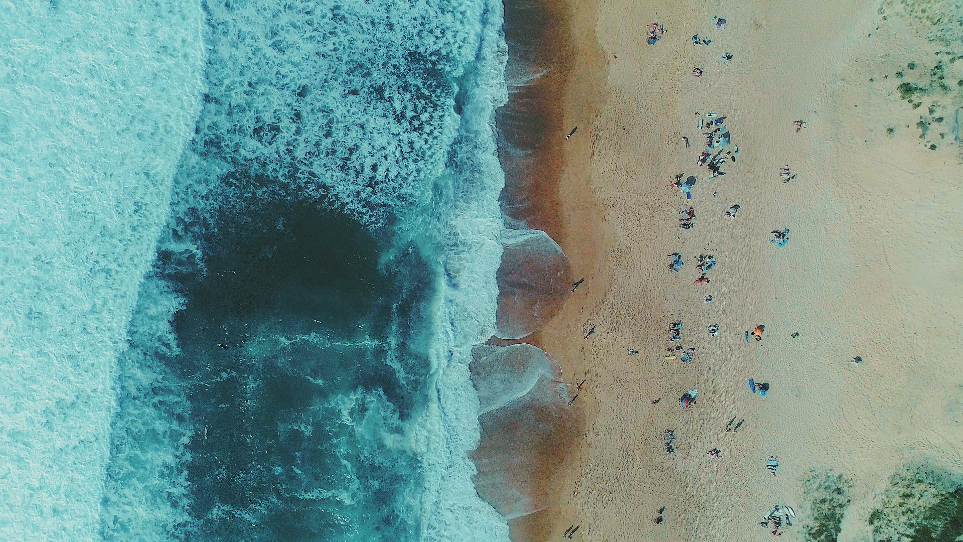 Plage-vue aerienne-plage la piste