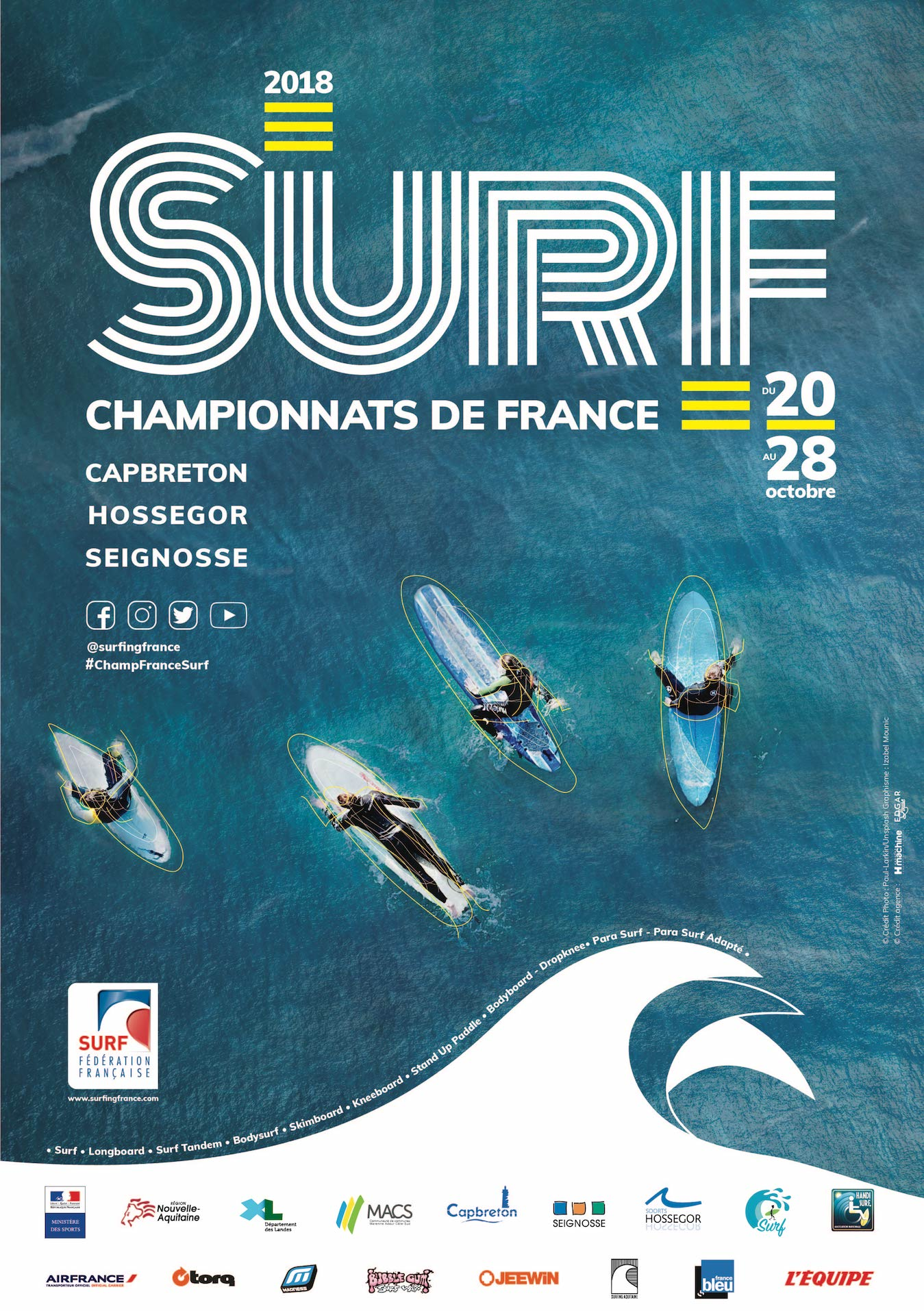 Championnats de France de Surf 2018 à Hossegor, seignossse et Capbreton