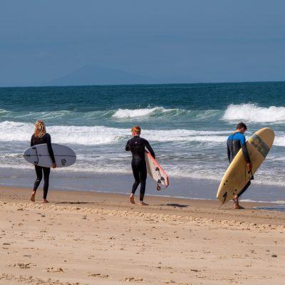 Session surf entre potes