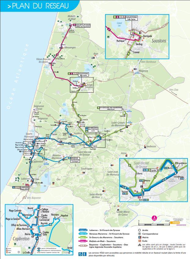 Se Deplacer En Bus Navette Des Plages Landes Atlantique Sud