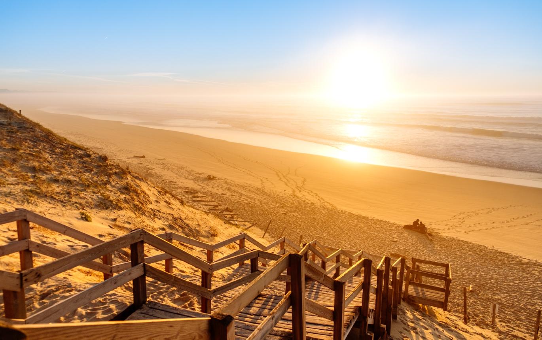 Messanges- plage-sunset-landes
