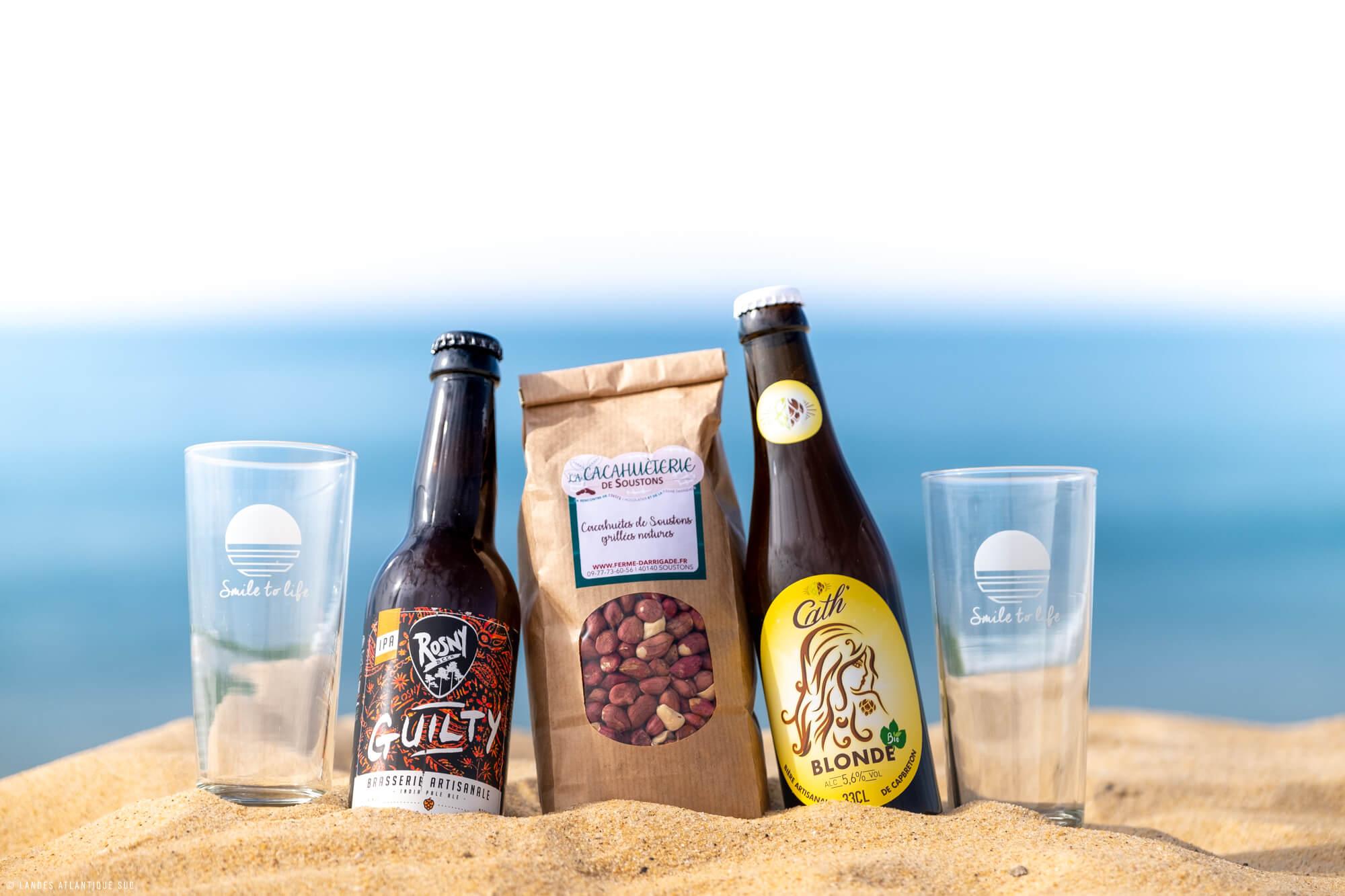 Panier gourmand apéro à base de produits locaux par Landes Atlantique Sud
