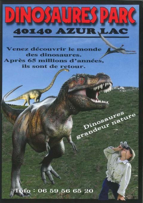 Dinosaures parc azur