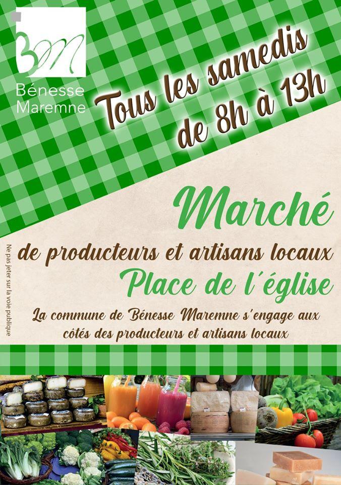 Marché de producteurs et artisans locaux Bénesse Maremne