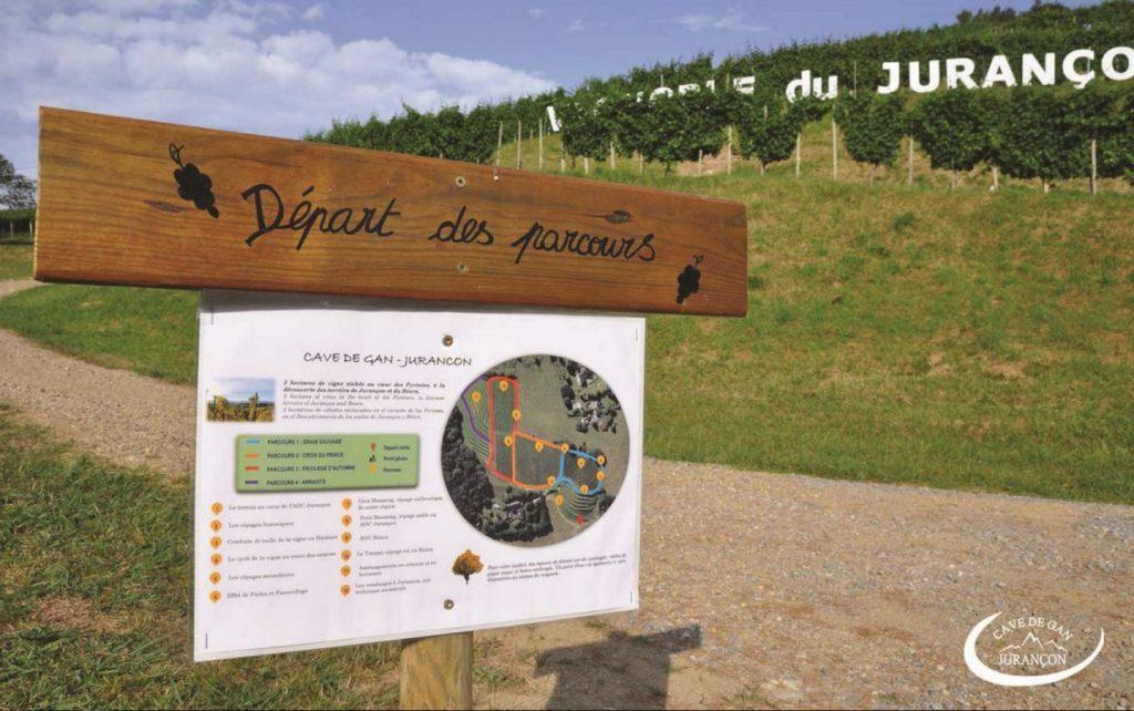 Cave des producteurs de Jurançon – Gan – Départ des parcours