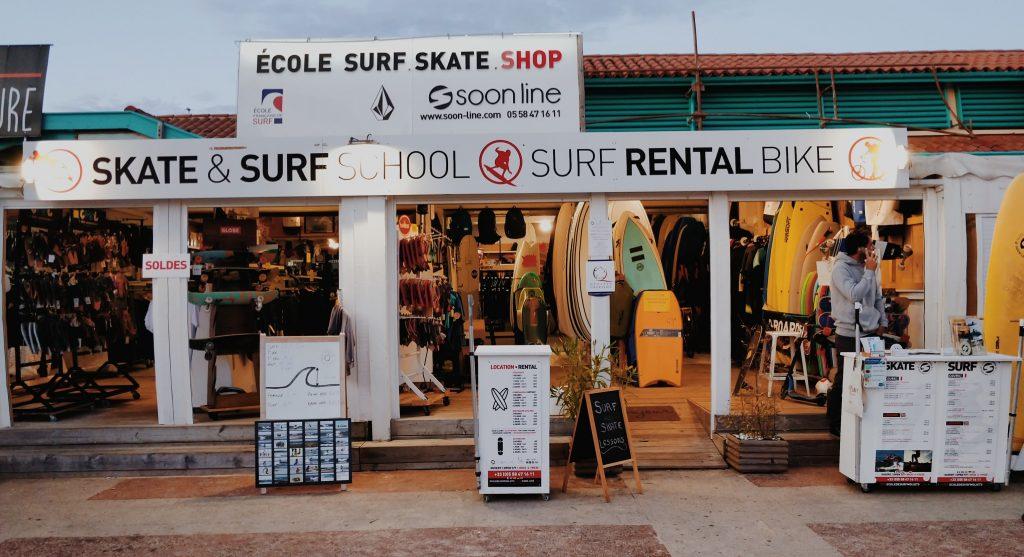 Soonline ecole de surf et skate Moliets et Maa Moliets plage