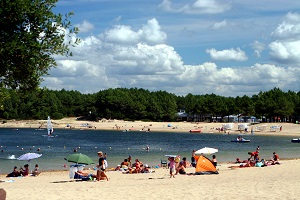 Soustons plage baignade surveillee lac marin