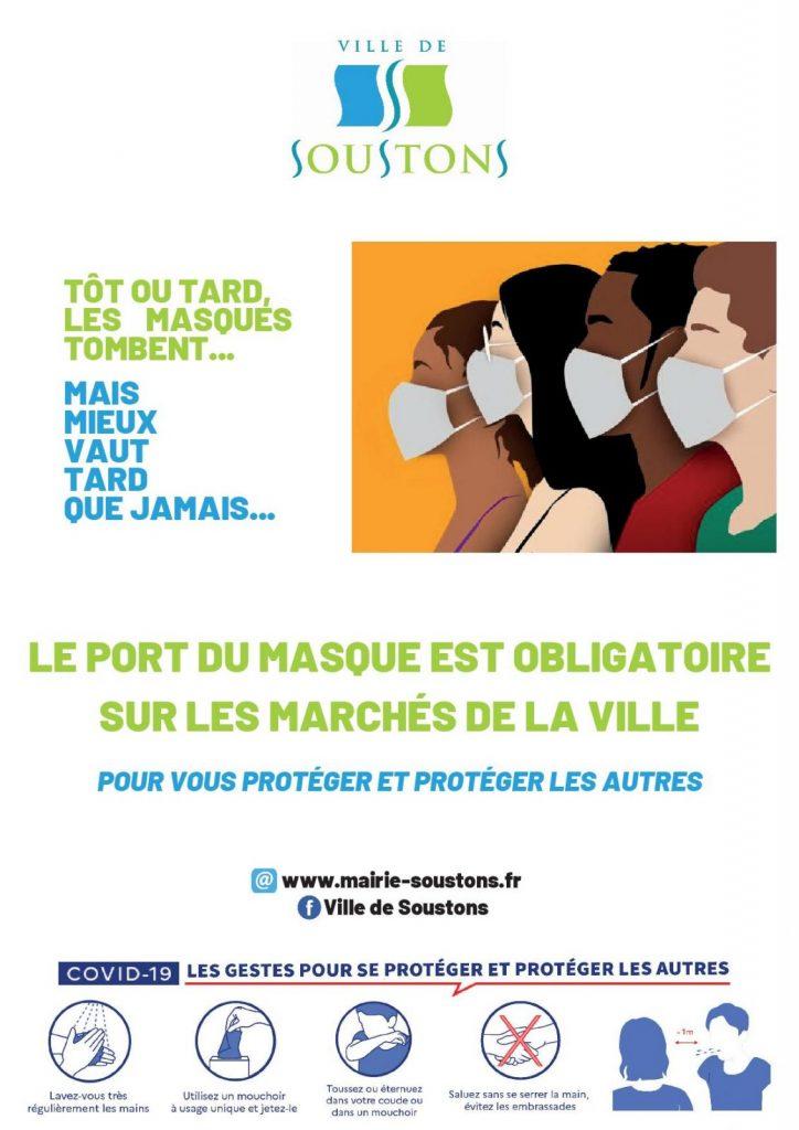 affiche marché masque obligatoire
