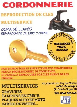 Cordonnerie Multiservices MESSANGES