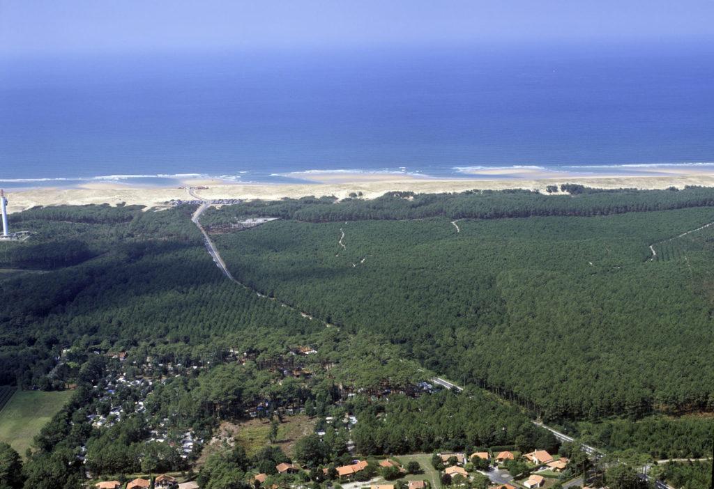 Camping Moisan_Messanges_landes atlantique sud_vue aerienne