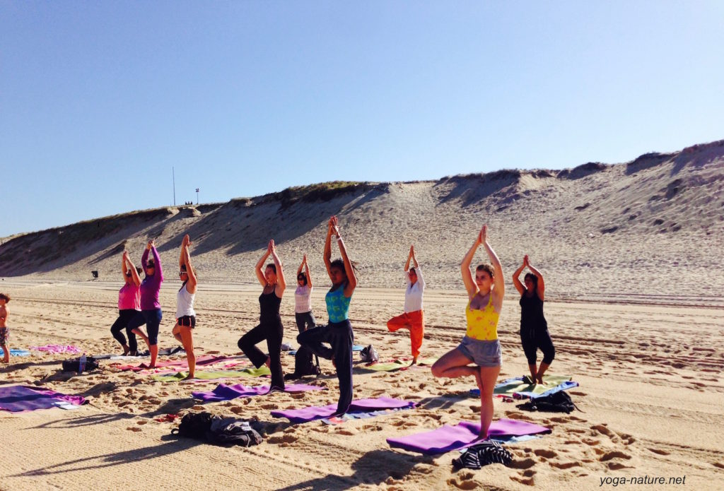 yoga nature plage messanges